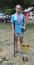 Julie Šulová se letošní rok stala nejúspěšnějším účastníkem Mistrovství České repubilky juniorů a žáků v rybolovné technice. Foto: Soukromý archiv rodiny Šulovy