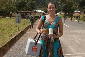 Jana Odrejková byla první dobrovolnicí Evropského centra mládeže Břeclav v africké Ghaně.