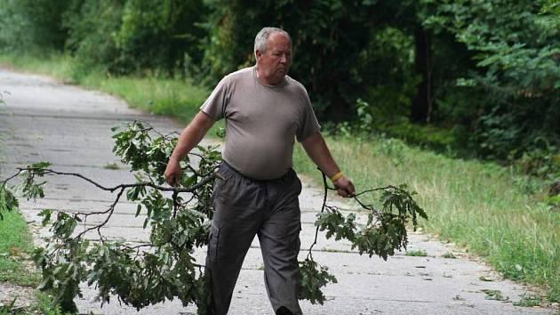 škody po bouřce v Břeclav