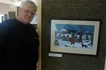 Alois Urbánek z Pasohlávek sbírá pohlednice s obrázky Josefa Lady.