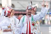 Národopisný soubor Břeclavan vystupoval v srpnu ve švýcarském Fribourgu na mezinárodním festivalu. Tanečníci dostali možnost jej celý i zakončit.