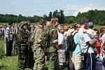 Bojová ukázka u Pohanska v podání Klubu vojenské historie Břeclav.