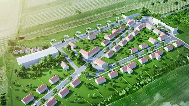 Jedna z možných podob vizualizace výstavby obytného komplexu v Pavlově.