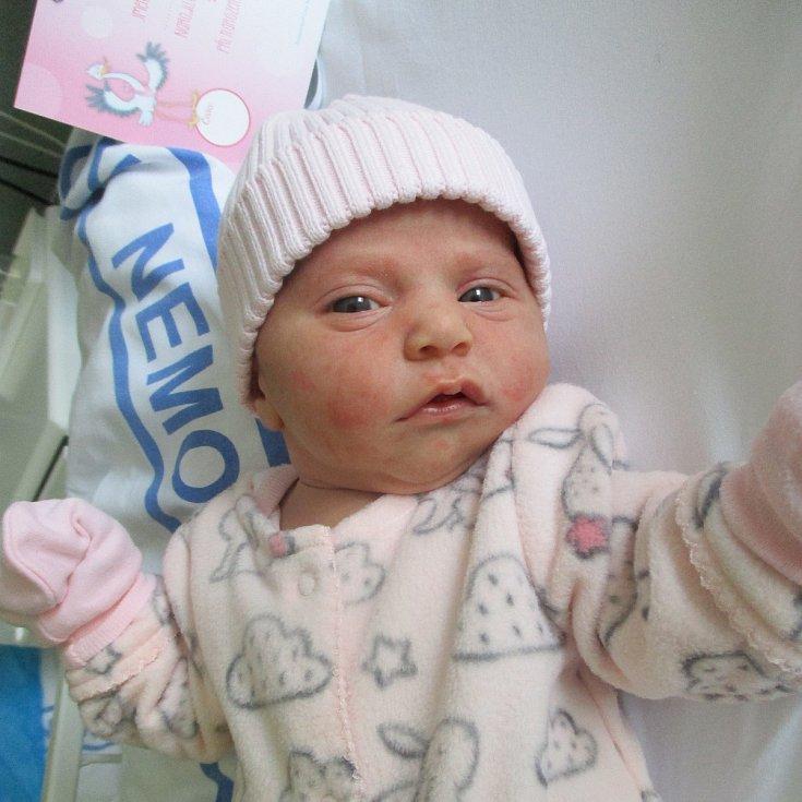 Eliška Podolská, Břeclav, 14. března, 16.29, Nemocnice Břeclav, 52 centimetrů, 3370 gramů. Foto: Monika Švestková