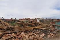 Trosky v obcích na jihu Moravy po tornádu.