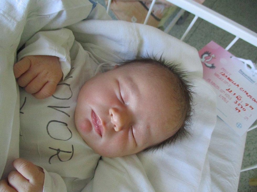 Izabella Ciprysová, Lanžhot, 22. ledna  2020, 9.04, Nemocnice Břeclav, 49 centimetrů, 3570 gramů.