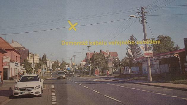 Kvůli průjezdu obřího nákladu bude Brněnská ulice v Hustopečích dvě noci bez osvětlení.