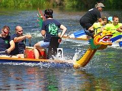 Ve veslařském areálu se uskutečnil v pořadí osmý ročník závodu dračích lodí Břeclavský drak, který je jedním z vrcholů břeclavské veslařské sezony.