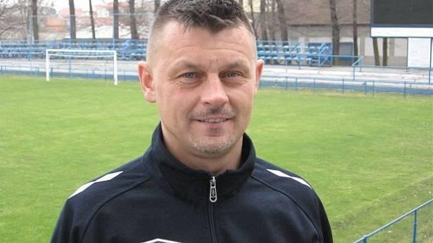 Trenér fotbalistů MSK Břeclav B Marcel Houška.