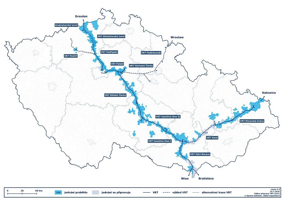 Vysokorychlostní trati v České republice.