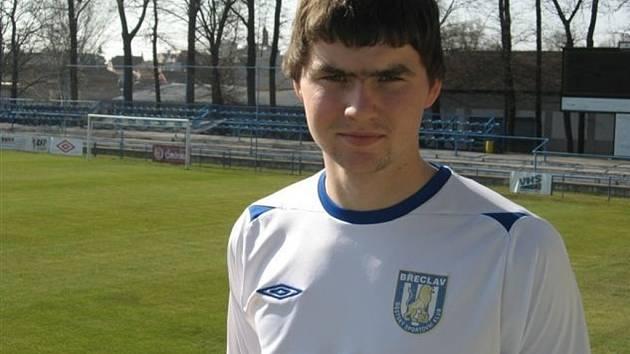 Josef Chromeček, obránce širšího kádru třetiligových fotbalistů MSK Břeclav.
