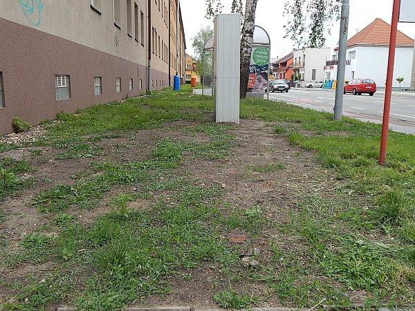 Některým Břeclavanům se nelíbí stav travnatých ploch po stavebních úpravách. Stěžují si na radnici.