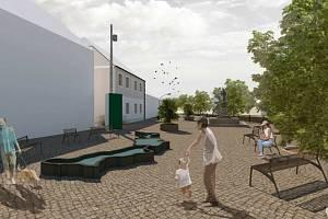 Studie řešení návsi v Dolních Věstonicích a navazujících prostor za muzeem.
