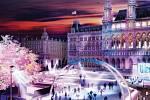 Výlet do Vídně si mohou bruslaři zpestřit jízdou na ledové dráze před radnicí, má plochu devět tisíc metrů čtverečních.