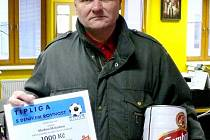 Za nejlepšího tipéra Martina Matyška převzal cenu jeho otec.