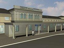 Rekonstrukce výpravní budovy železničního nádraží v Břeclavi.