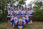 Valtickým mažoretkám se podařilo v letošním roce vybojovat zlatou medaili na Mistrovství České republiky a Mistrovství světa v disciplíně classic senior. Zdroj: archív Klub mažoretek Valtice