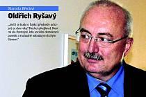 Starosta Břeclavi Oldřich Ryšavý odmítl kandidaturu do čela sociálních demokratů v okrese.