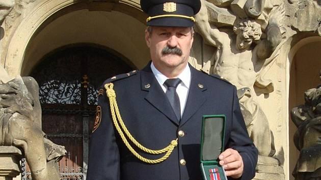 Oceněný Vladimír Mikulášek.