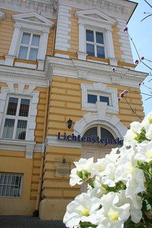 Lichtenštejnský dům lze najít vcentru Břeclavi.