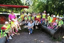 Děti z dětské skupiny Peřinka v Morkůvkách.