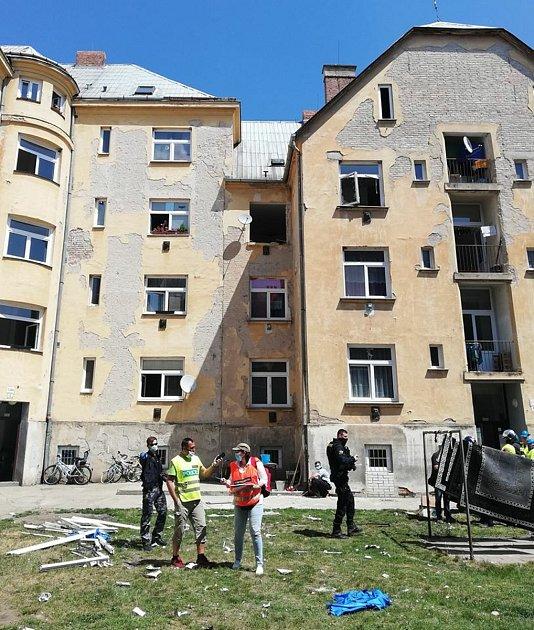 VBřeclavi se při výbuchu plynu vážně popálili dva lidé.