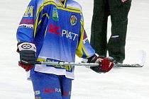 Slovenský hokejista Erik Novák ve službách Břeclavi.