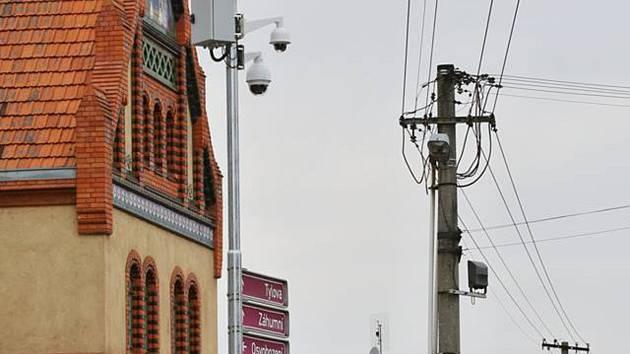 Břeclav má nové dvě kamery u hlavní pošty v ulici Břetislavova a další nedaleko kostela v ulici Osvobození.