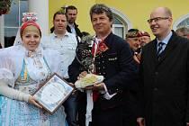 Na dvě lákadla vsadili pořadatelé letošního ročníku Mikulovských vinných trhů. Otevření archivního sklepa a setkání s premiérem Bohuslavem Sobotkou.
