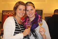 Milovníci vína ochutnávali v pátek a v sobotu ve valtické jízdárně vzorky z Moravy a z Rakouska.