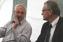 Předseda Strany Práv Občanů Zemanovci Miloš Zeman navštívil Břeclav.