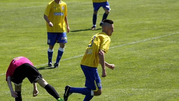 Fotbalisté devatenáctky Břeclavi. Ilustrační foto.