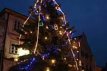 Vánoční strom v Mikulově - ilustrační foto.