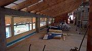Práce na výstavbě drnholeckého kulturního domu pokračují.