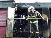 K požáru lokomotivy vyjížděli hasiči k Hruškám na Břeclavsku.