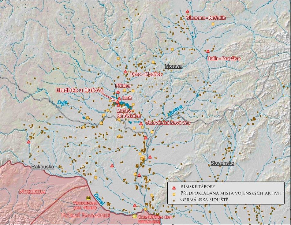 Objekty Římské armády na území Markomanů
