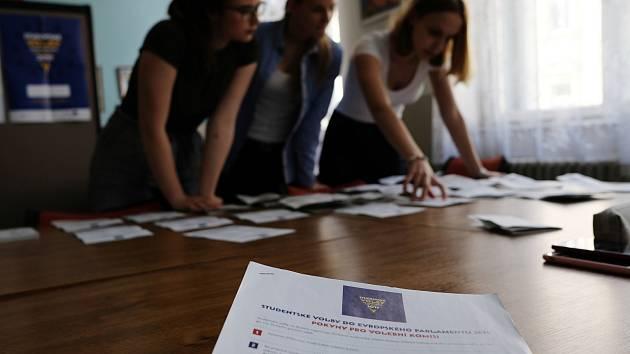 Studentské volby do Evropského parlamentu.