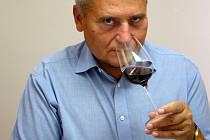 Degustátoři pozorně zkoumají barvu každého vzorku. Objemnou sklenicí vždy několikrát zkušeně zakrouží, nasají vůni a poté doušek vína poválejí po patru i jazyku.
