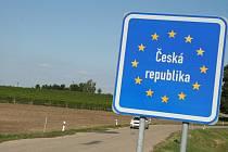 Státní hranice mezi Českem a Rakouskem u Valtic
