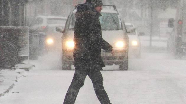 Břeclavsko opět překvapila sněhová nadílka.