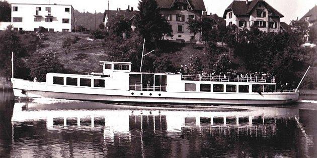 Po Horní nádrži vodního díla Nové mlýny se bude plavit Munot. Loď vyrobená vroce 1936ve Švýcarsku.