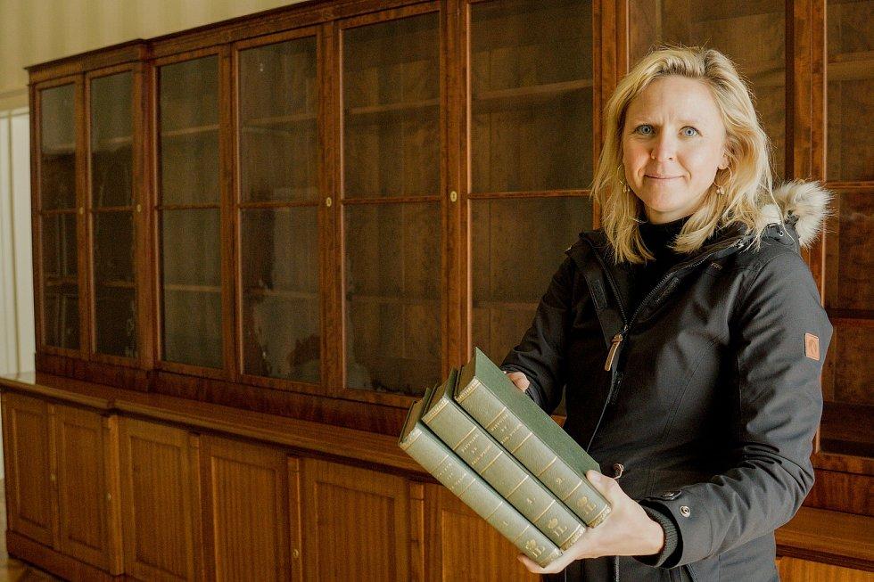 Knížecí byt na valtickém zámku. Správci doplnili knihovnu Františka I. z Lichtenštejnu.