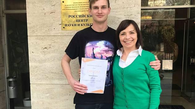 Vojtěch Antoš se svojí učitelkou Janou Lorenzovou
