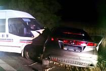 Při nehodě u Moravské Nové Vsi se zranilo osm lidí.