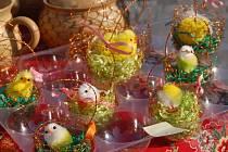 Velikonoční jarmark na hustopečském náměstí.