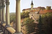 Výtvarnice Marie Rakušanová vyzdobila svými díly mikulovskou městskou galerii.