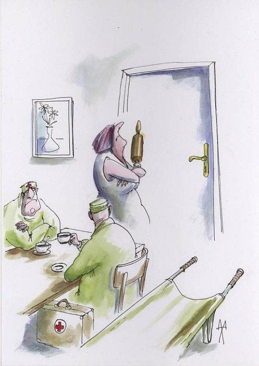 S vtipem a nadsázkou se na svět dívají karikaturisté, kteří v těchto dnech vystavují v prostorách Mětského muzea a galerie v Hustopečích.