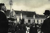 Profesor Alois Hubáček a prezident Masaryk.