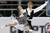Lucie spolu se svým partnerem Matějem Novákem na Mezinárodním mistrovství, které se letos konalo v Žilině.