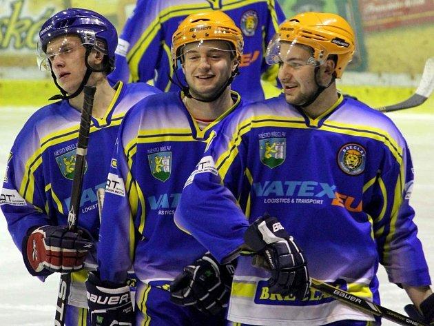 Břeclavští hokejisté – ilustrační foto.